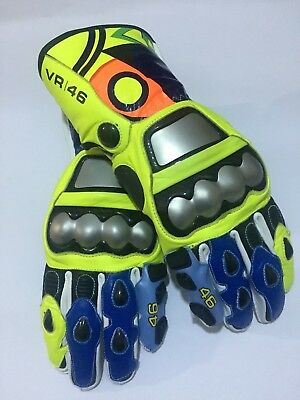 Rossi Racing 2017 Motorbike Leather Gloves. Size M,L,XL