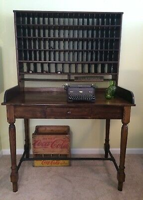 Antique U.S. Postal Mail Sorting Desk — Restored