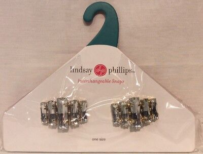 Lindsay Phillips Snaps Shoe Jewelry Braelynn Goldtone With Clear Stones
