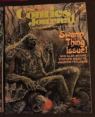 3 X Swamp Thing Magazines: 2 X Critics Choice, 1 X Comics Journal #93