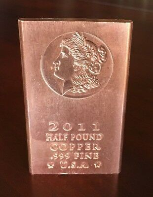 .999 Fine Copper Bullion Bars 40oz. 5 *2012* AMERICAN EAGLE Half Pound 8oz.