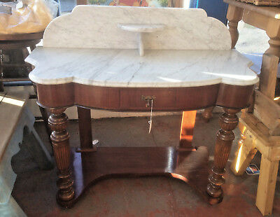 Edwardian Mahogany Marble Topped Wash Stand