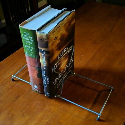 """Vintage Wire Book Rack • Adjustable Collapsible • Lightweight Alloy • 14""""x5.75"""""""