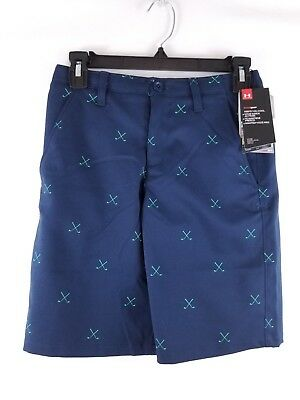 UNDER ARMOUR YOUTH Boy's UA Match Play Printed Golf Shorts NWT Loose Fit 1290351