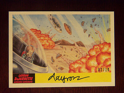 2017 Topps Mars Attacks The Revenge! LAYRON AUTOGRAPHED Card #41 (#2/10) RARE
