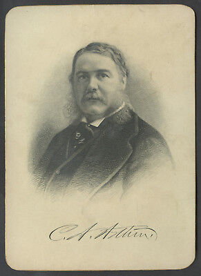 C. 1900 Presidential Cabinet Style Engraving Chester Arthur