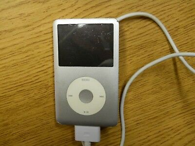 Apple Ipod 120 GB 7th Generation With Charger Cord Powers Up Not Tested