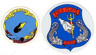 Submarine and Submersible stickers SS581 USS Blueback / DSV4 Sea Cliff