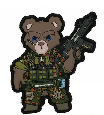 Tactical Ksk Teddy - 3D Pvc Patch Flecktarn Mit G36 Hakenklett