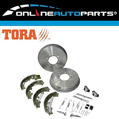 Rear Brake Drums + Shoes + Wheel Cylinders Kit suits Hilux GGN25 KUN26 05~16 4X4