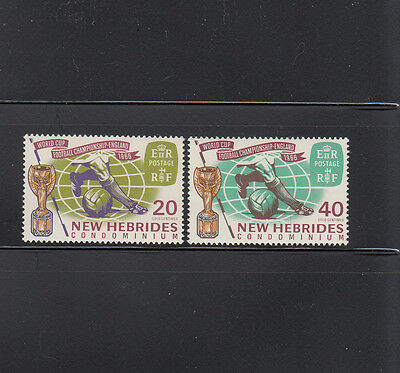 New Hebrides BR 1966 World Cup Soccer Sc 116-117 complete mint never hinged