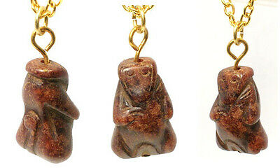 Genuine Ancient China Hand Carved Red Jade Monkey Amulet BC1000