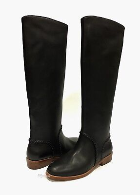 3a7ecaf21fb UGG GRACEN WHIPSTITCH Riding Boots Black Leather -Us Size 7.5 -New