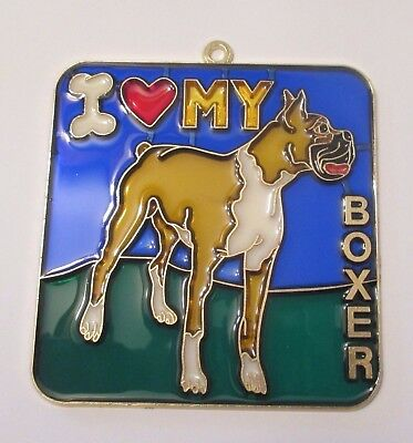 I Love My Boxer Suncatcher (Dog Suncatchers)