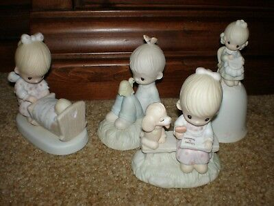 Precious Moments figurines; lot of 4. Great condition. No boxes.