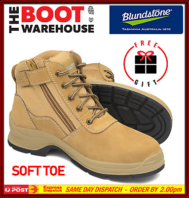 701ecdf03cb NEW BLUNDSTONE MENS Work Boots Shoes Safety Steel Toe Zip Lace Up ...