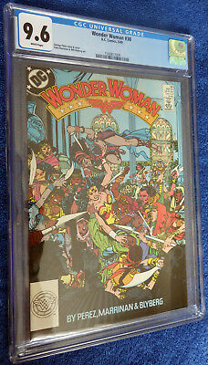 Wonder Woman #30 CGC 9.6 White pages Beautiful George Perez cover!