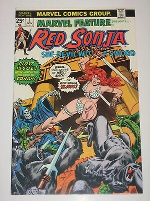 Marvel Feature  1 with  Red Sonja  Marvel Comics Bronze Age