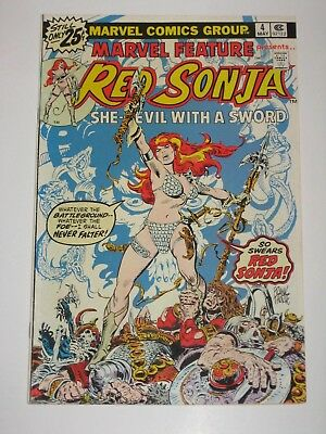 Marvel Feature  4  with  Red Sonja  Marvel Comics Bronze Age