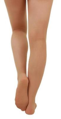 Capezio N14c Girl's Tights - SUNTAN Footed tights - Dance tights UK Seller