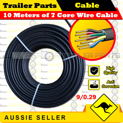 10M x 7 Core Wire Cable Trailer Cable Automotive Boat Caravan Truck Coil V90 PVC