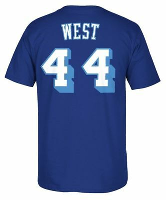 57cf23a19cd7 LOS ANGELES LAKERS Jerry West Throwback Adidas Blue T Shirt -  24.95 ...