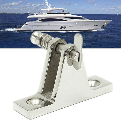 Deck Hinge Boat Bimini Top Fitting 90 Degree Quick Release Pin Stainless Steel
