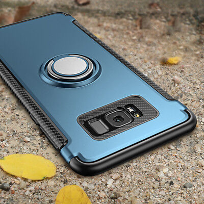 Luxury Magnetic Kickstand Ring Holder Case Cover For Samsung Galaxy Note 8 S8 S7