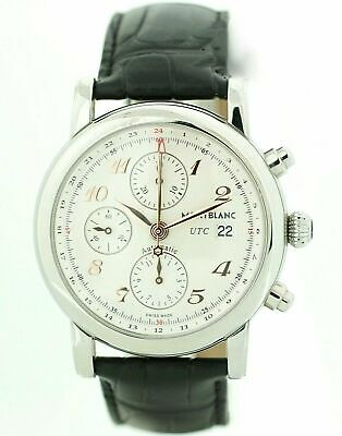 243becf2237 Montblanc Star Chronograph UTC Steel Rose Gold Leather Automatic Men's Watch