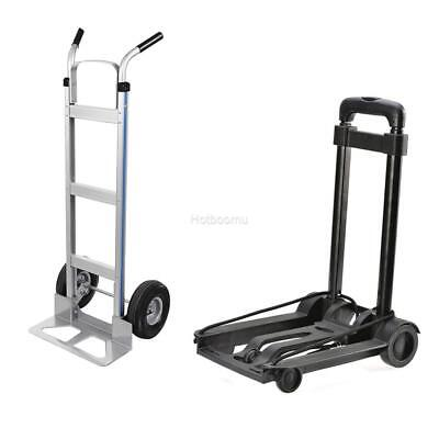 500lbs Cart Folding Dolly Push Truck Hand Collapsible Trolley Luggage Aluminium