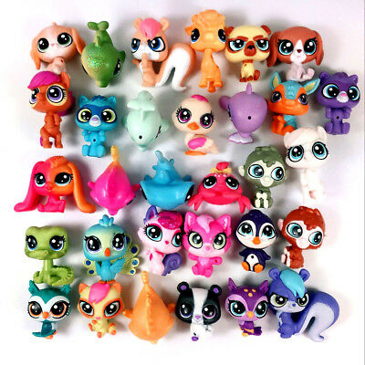 random Lot 20pcs LPS Hasbro Littlest Pet Shop Animal Figure Cute MINI Toy Gift