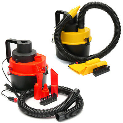 Portable 12V Wet Dry Vacuum Car Seat Cleaning Cleaner Inflator Turbo Hand Held