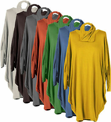 New Italian Lagenlook Quirky Batwing Sleeve Casual Tunic Top Dress Plus Size