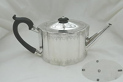 Rare George Iii Hm Sterling Silver Teapot 1809