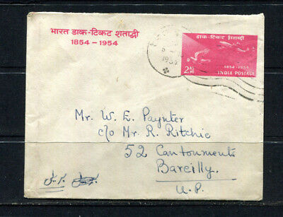 India 1954 Souvenir Pse Air Mail Stamp Cover Commemorating Centenary  Lot 308