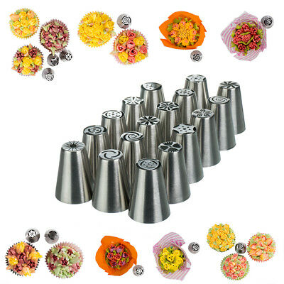 17 x Russian Flower Piping Tips - Mini