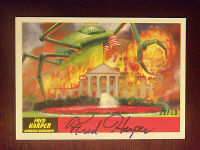2017 Topps Mars Attacks The Revenge! Fred Harper AUTOGRAPHED Card #26 #2/10 RARE