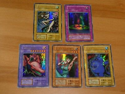 Lot Special Yu-Gi-Oh Japanese Ultra Rare Holo Card 5 Cartes Initial Japan No Ref