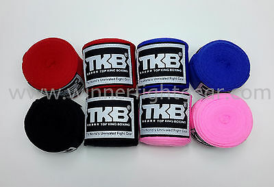 TOP KING ELASTIC HAND WRAPS PINK Great for MuayThai Boxing MMA K1 !!!