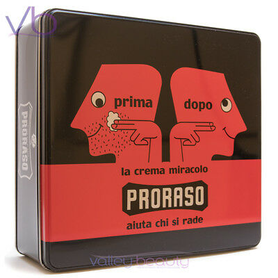 PRORASO (Primadopo , Vintage, Gift, Metal, Box, Green, Shaving Set, Cream, Balm)