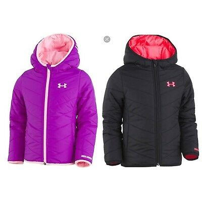 New Toddler Girls Under Armour Cold Gear Puffer Jacket Coat Water resistant $60