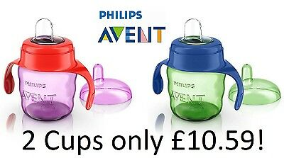 Avent Easy Sippy Spout Cup 7oz/200ml 6m+ Sippy Cup Baby's First Cup Weaning Cup