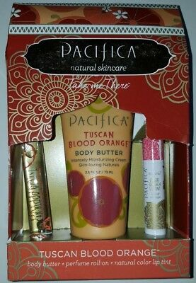 Brand new Pacifica Take Me There Tuscan Blood Orange Gift Set- Natural Skincare