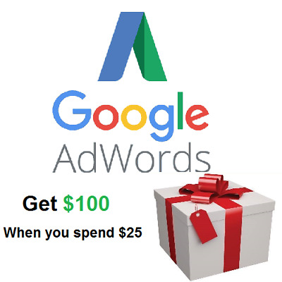 Google AdWords $100 Advertising Offer when you spend $25 US ONLY
