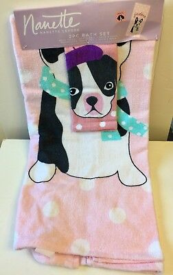 Boston Terrier Towel Set SPECIAL SALE PRICE