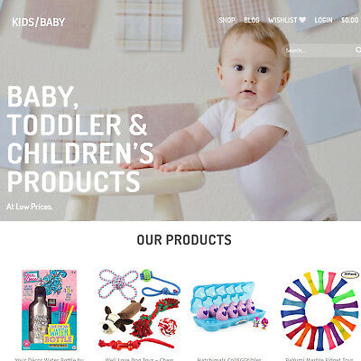 Start Your Own Kid's Baby Toy Drop Shipping Business - Work From Home Website