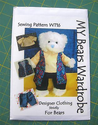SEWING Pattern Boy Teddy Bear Clothes by My Bears Wardrobe fits ...