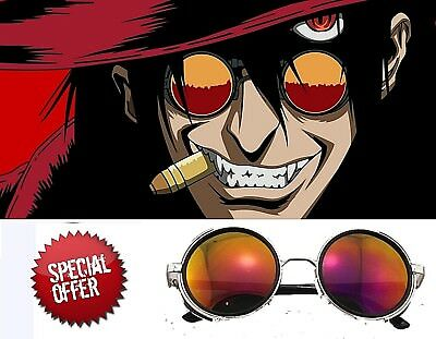 Sunglasses Anime HELLSING Alucard Vampire Hunter Tailored Cosplay Glasses Orange