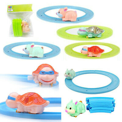1 Set Track Toy for Baby Kids Child Game New tortoise Clockwork Cute Track Toys