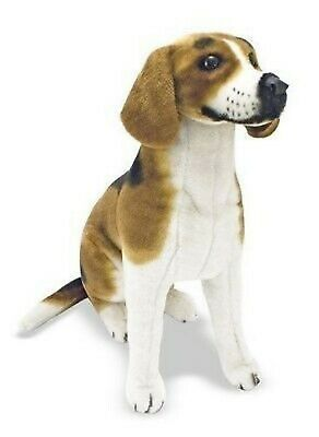 BRAND NEW Beagle Dog Laying Lifelike Stuffed Animal Dog Plush Soft Toy 50 CM UK